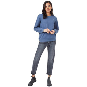 tentree Adventure Boyfriend Crew LS Shirt Women spruce blue heather